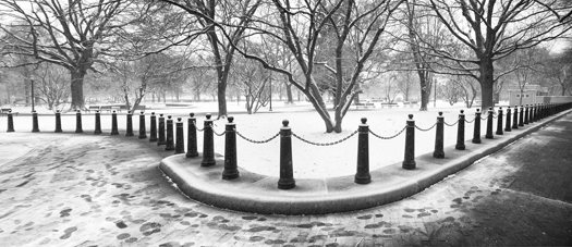 DC Snow Feb2014 BW_Panorama