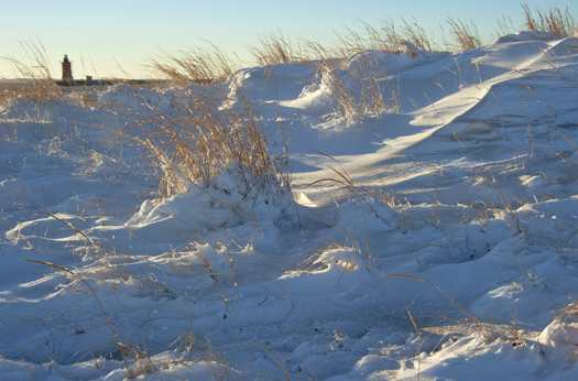 Snow in Dunes Sunset 1.3.2014_0624