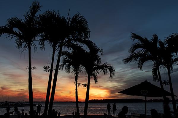 Sunset Dewey.boats.palms 9.24.2015_9550